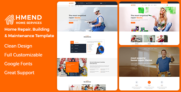 ThemeForest Hmend Home Maintenance Repair Service HTML Template 20904137