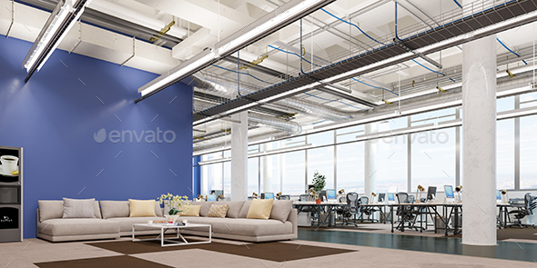 GraphicRiver Office Workplace 3D Illustration 20904221
