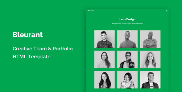 Bleurant - Creative Team and Portfolio HTML Template
