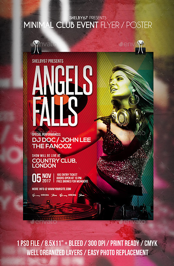 Minimal Club Event Flyer / Poster - Events Flyers