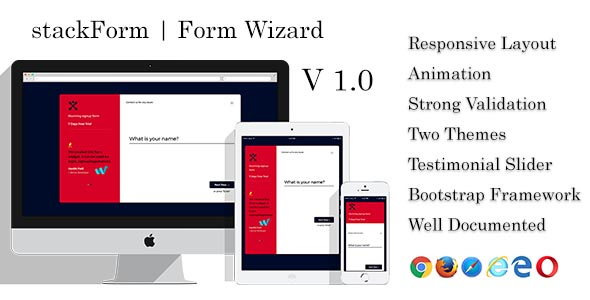 CodeCanyon stackForm Form Wizard Multistep Form Questionaire 20904404