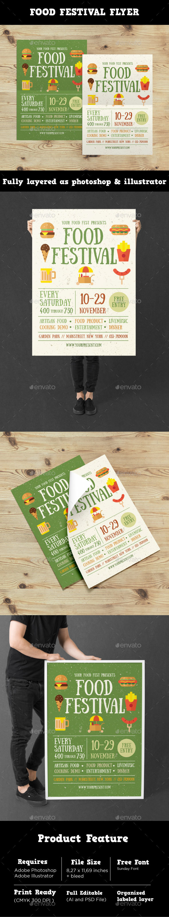 GraphicRiver Food Festival Flyer 20904338