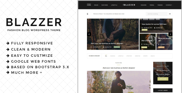 ThemeForest Blazzer Personal Fashion Blog WordPress Theme 20462701
