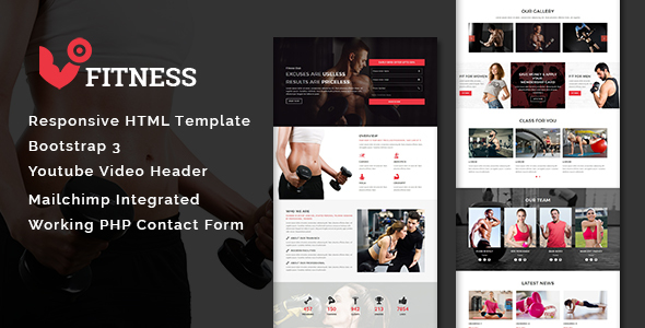 ThemeForest Fitness Multipurpose Responsive HTML Template 20830889