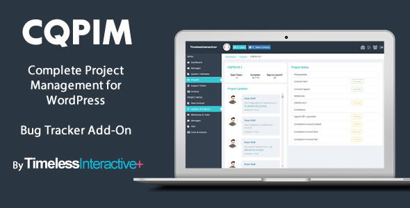 CQPIM Project Management - Bug Tracker Add-On - CodeCanyon Item for Sale