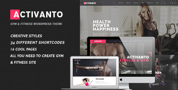 ThemeForest Activanto Gym & Fitness WordPress Theme 20700945