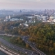 KIEV, UKRAINE October 19, 2017: Flight Over the Embankment of the City of Kiev, Ukraine - VideoHive Item for Sale