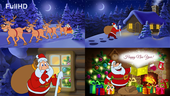 happy new year animated card by cartoontower videohive