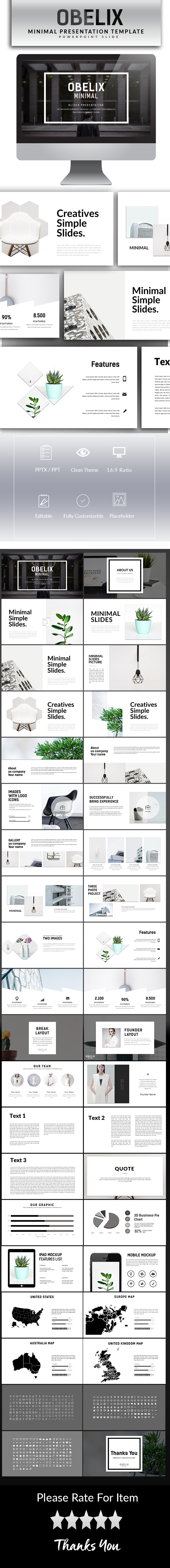 GraphicRiver Obelix Minimal Powerpoint Template 20905065