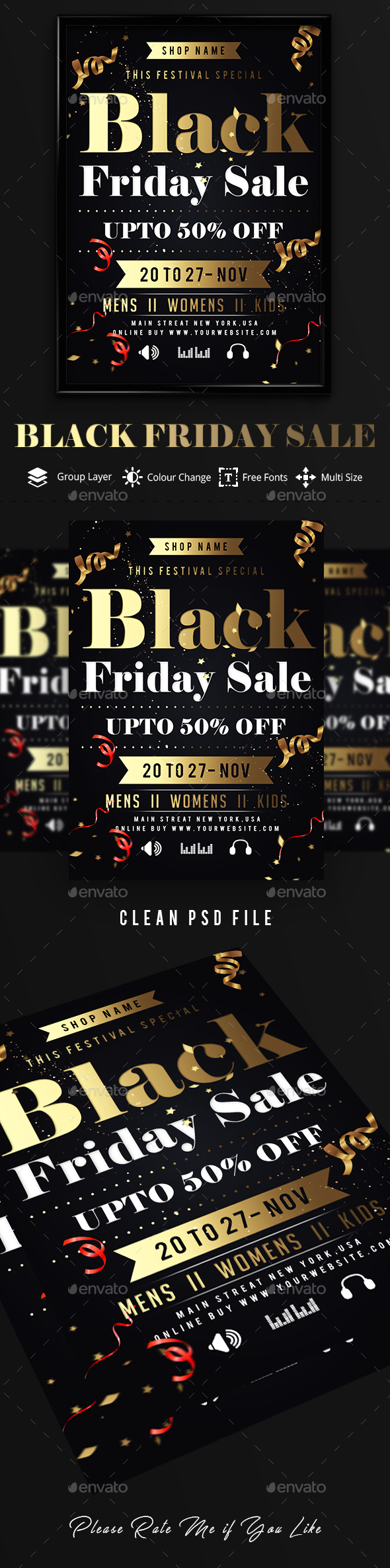 GraphicRiver Black Friday Sale Flyer 20905105