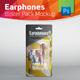 Earphones Blister Pack Mockup With Earphones Inside