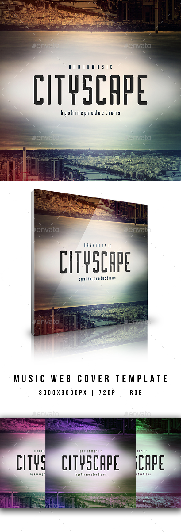 GraphicRiver Cityscape Music Web Cover Template 20905161