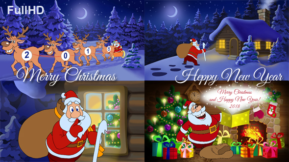 Merry christmas and happy new year animated card by cartoontower merry christmas and happy new year animated card m4hsunfo