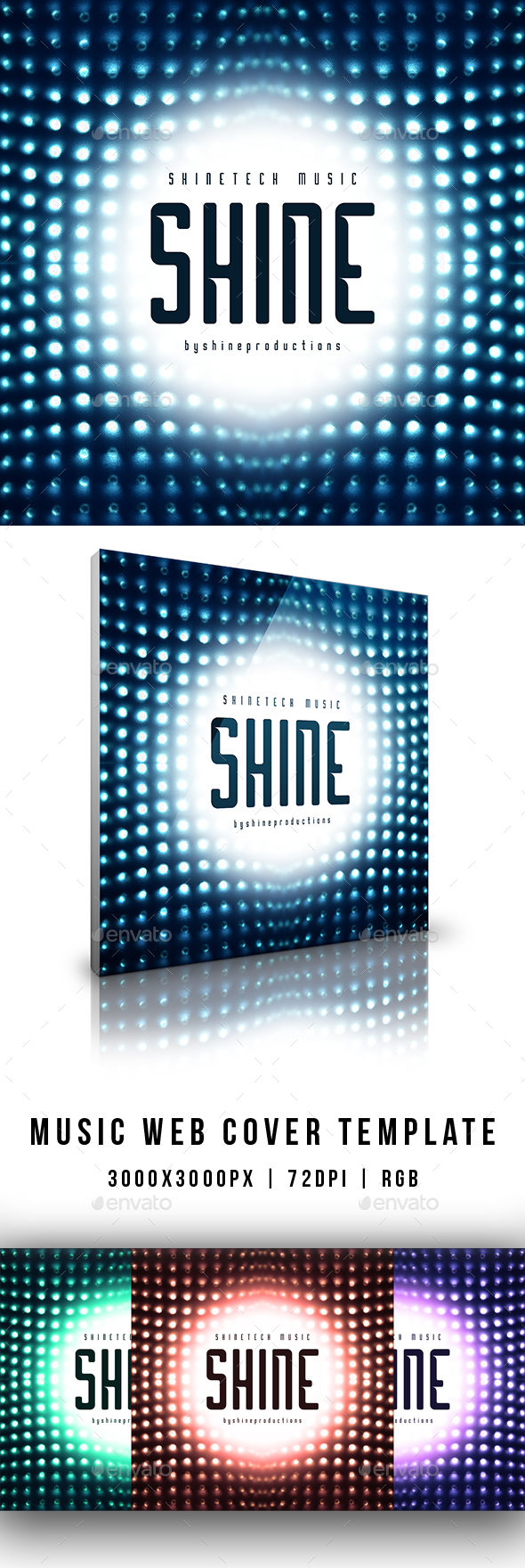 GraphicRiver Shine Music Web Cover Template 20905221