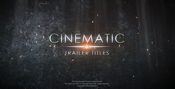 cinematic trailer titles abstract after effects templates f5. Black Bedroom Furniture Sets. Home Design Ideas