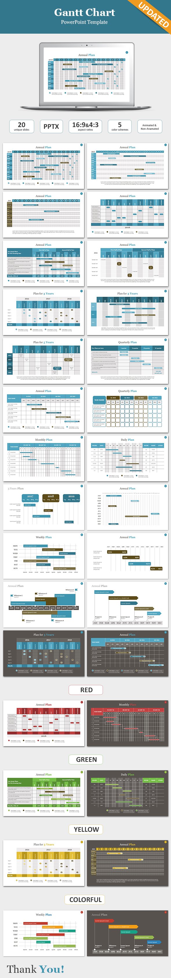 Gantt chart powerpoint template by sananik graphicriver gantt chart powerpoint template powerpoint templates presentation templates toneelgroepblik Images