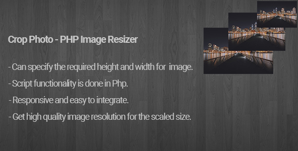 CodeCanyon Crop Photo PHP Image Resizer 20905337