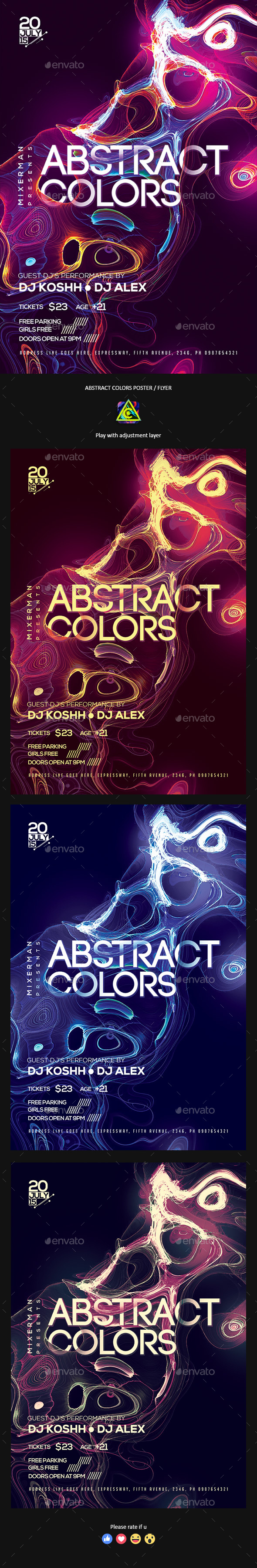 Abstract Colors Poster / Flyer - Clubs & Parties Events