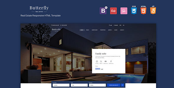Butterfly - Responsive Real Estate HTML Template - Retail Site Templates