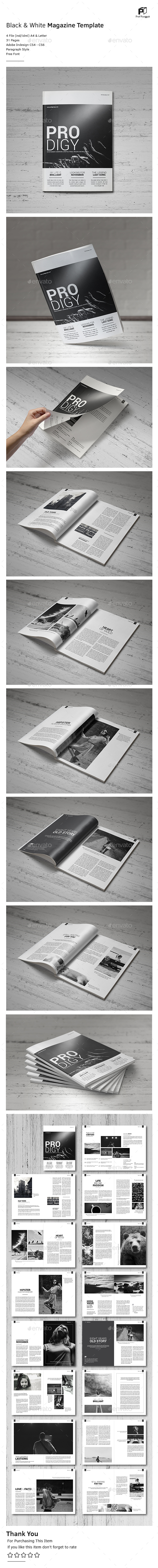 Black & White Magazine Vol.2 - Magazines Print Templates