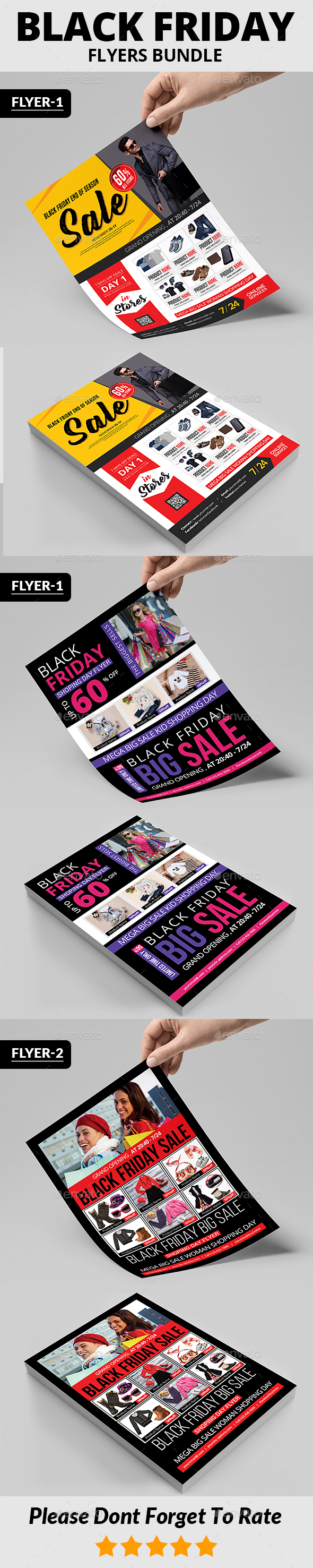 Black Friday Flyers Bundle - Commerce Flyers