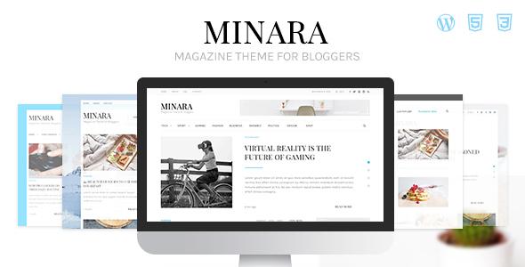 ThemeForest Minara WordPress Magazine Theme for Bloggers 20651430