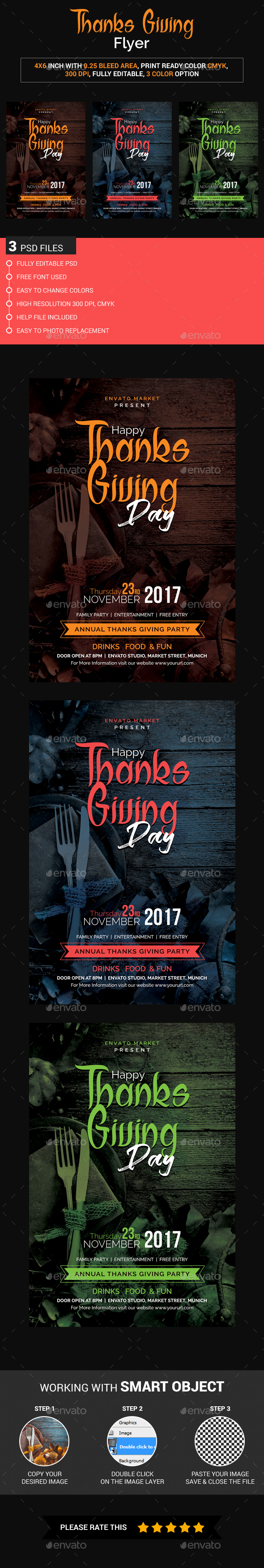 GraphicRiver Thanks Giving Flyer 20905748