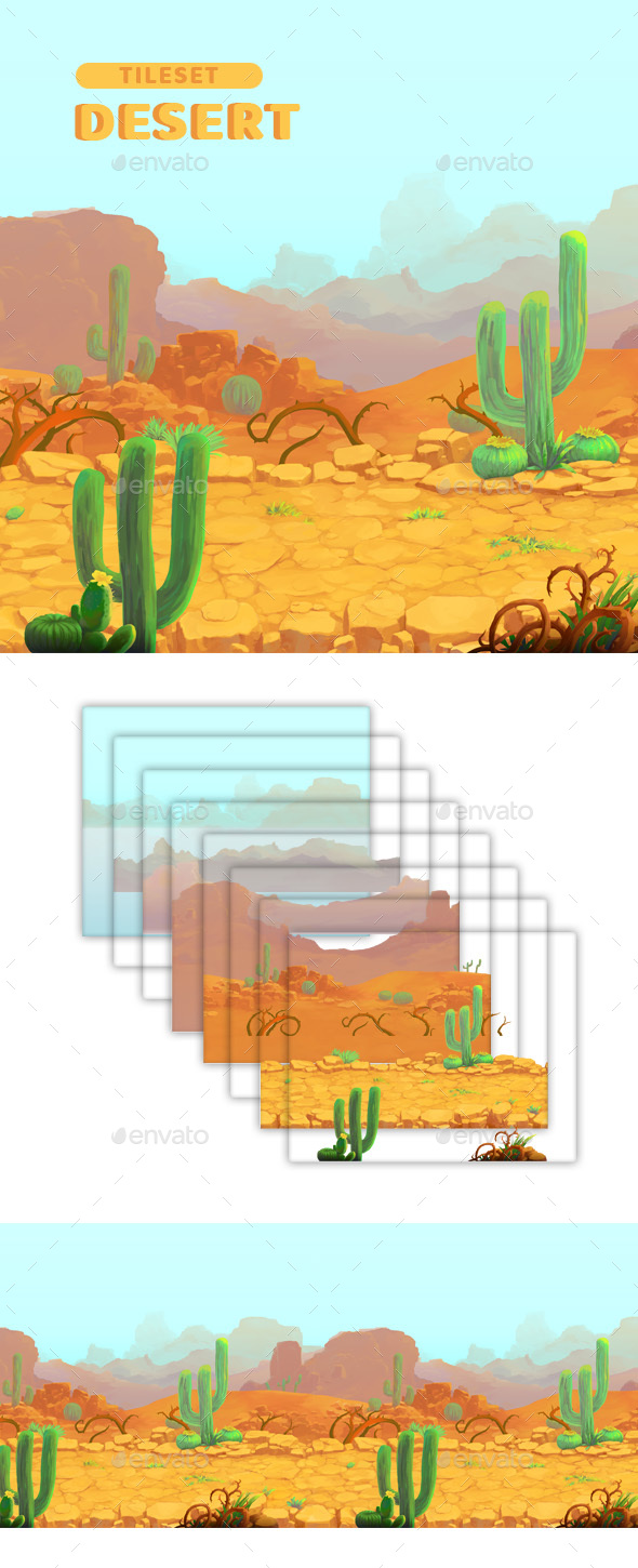 GraphicRiver Desert Game Background 20905780