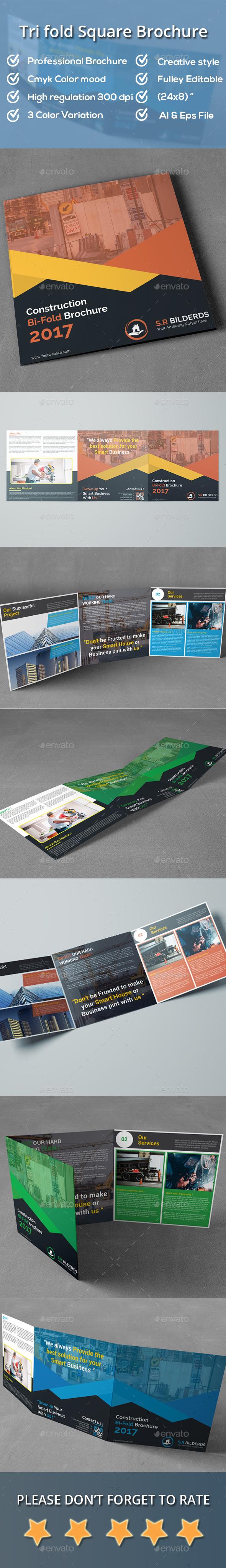 GraphicRiver Tri-fold Square Brochure 20905904