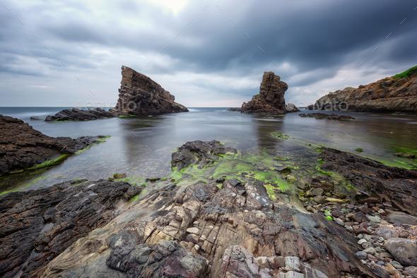 Sea rocks - Stock Photo - Images