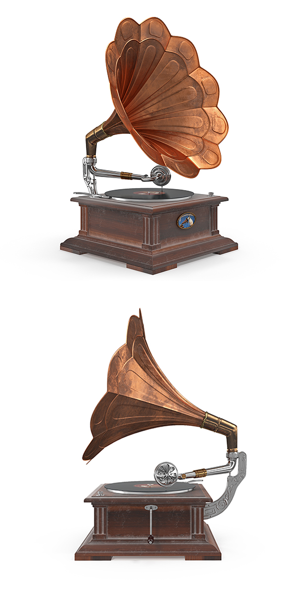 3DOcean Old classical phonograph 3D model 20906000
