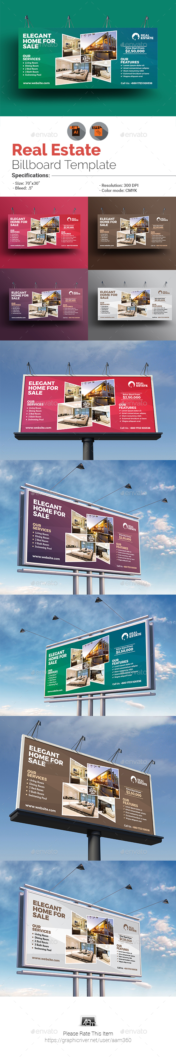 GraphicRiver Real Estate Billboard Template 20906016