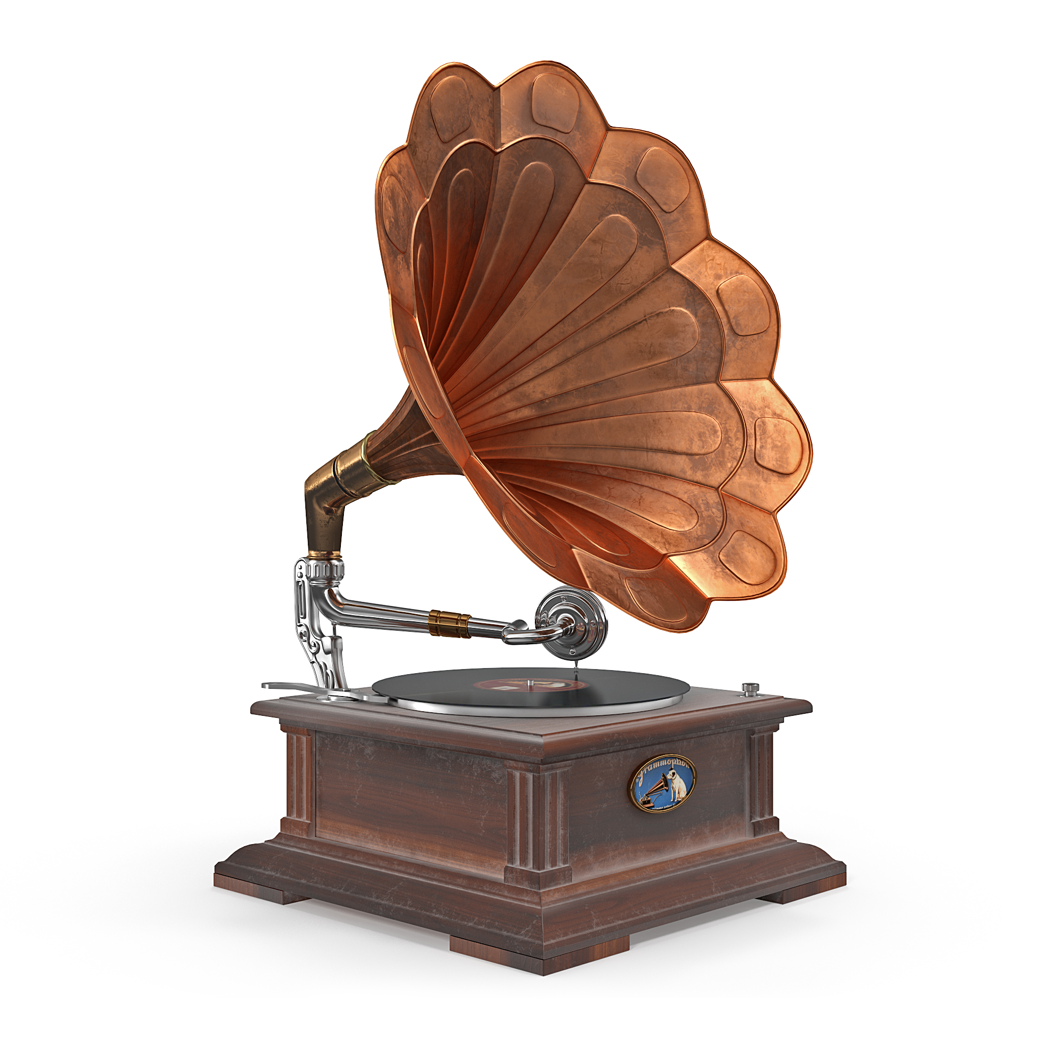 Old Classical Phonograph 3d Model By Robertkorsa 3docean