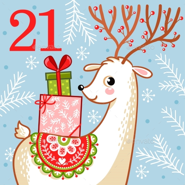 Vector Christmas Advent Calendar - Christmas Seasons/Holidays