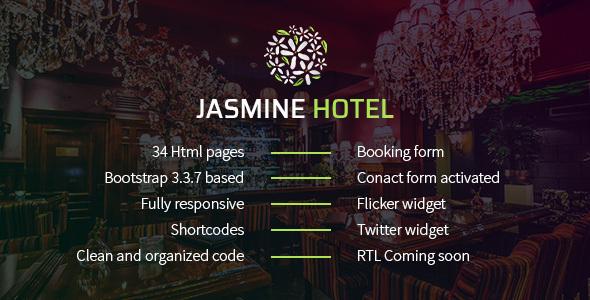 ThemeForest Jasmine Hotel 20767014