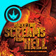Screams from Hell Movie Poster plus Flyer Template