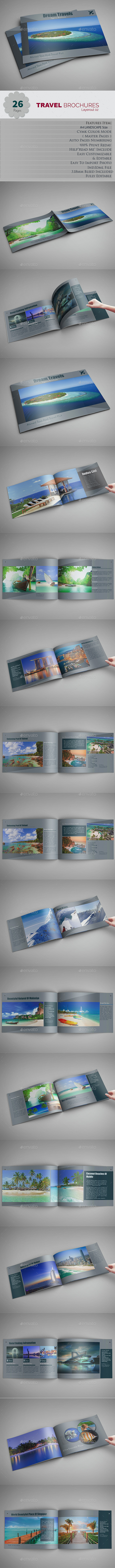Travel Brochures Layerout 2 - Brochures Print Templates