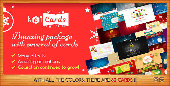 CodeCanyon KeiCards Package with Several Animated Cards 20906389