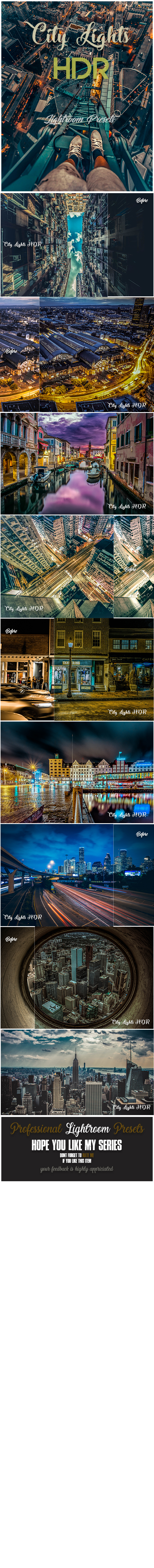 GraphicRiver 16 City Lights HDR Lightroom Presets 20906386