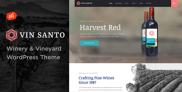 Vin Santo - Winery & Vineyard Theme - Restaurants & Cafes Entertainment