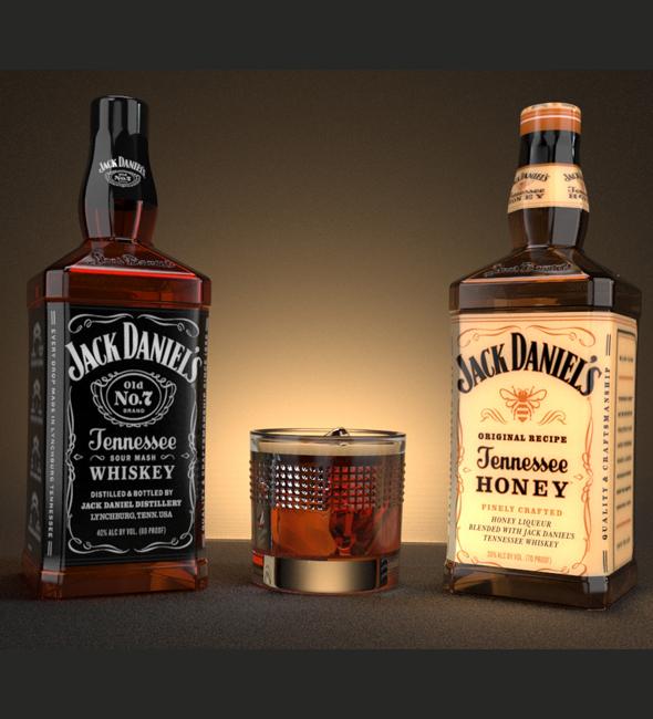 JACK DANIELS - 3DOcean Item for Sale