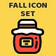 Seasonal Fall Icon Set