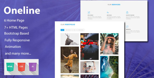 Oneline — Onepage HTML Template