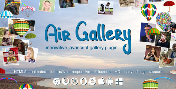 Air Gallery - JavaScript Gallery Plugin Best Scripts
