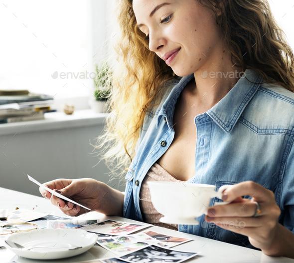 Caucasian woman creative shoot - Stock Photo - Images