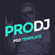 ProDJ - Creative DJ / Producer Site PSD Template - ThemeForest Item for Sale