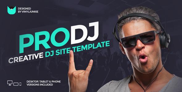 ProDJ - Creative DJ / Producer Site PSD Template