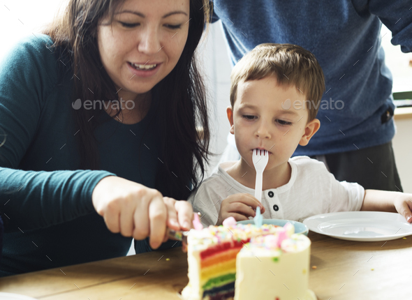 Family Event Birthday Party Togetherness Happiness - Stock Photo - Images