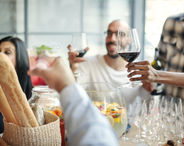 Food Catering Cuisine Culinary Gourmet Party Cheers Concept - Stock Photo - Images