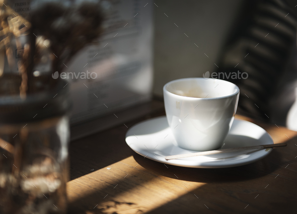 A trendy coffee shop in the city - Stock Photo - Images
